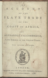 An Account Of The Slave Trade -Title Page